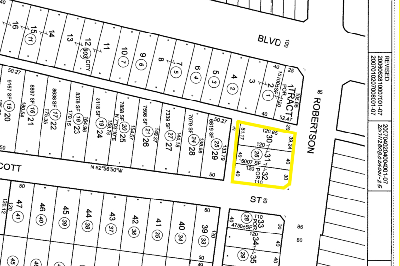 1427 S Robertson Blvd - Plat Map