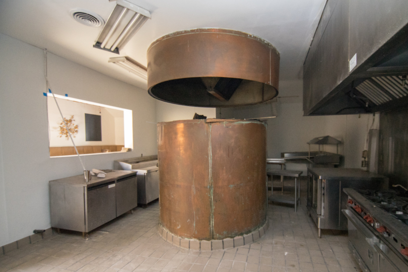 Inside Fully Built-Out Kitchen With Wood-Fired Oven